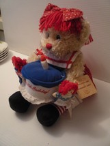 Dakin Raggedy Ann Happy 85th Birthday Bear w/Mini Raggedy Ann & Andy Dol... - $34.65