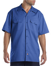 Dickies Mens Shirt 18 18.5 Blue Oxford Button Down Grunge Work Short Sle... - $7.51