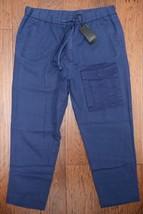 Armani Exchange A X Men's Cotton/Lino Dark Blue Casual Cargo Cropped Pan... - $50.28