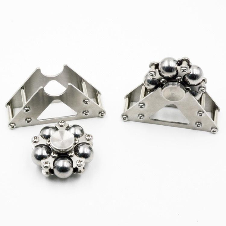 Stainless Steel Balls Fidget Hand Spinner Finger Desk Focus Stress EDC Toy Kit, used for sale  USA