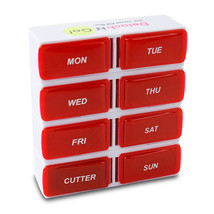 Pill Box Organizer, 7-day Detachable Pill Organizer, With Pill Cutter - $10.98