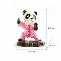 Cute Kongfu Panda Toy Mini Panda Puppet Home Decorations Kids' Gift(Pink)