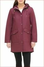 new Levi's women jacket coat hooded LW8RU669 burgundy red sz s - $57.71