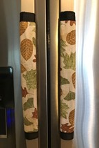 Refrigerator Door Handle Covers Set of Two Fall Holiday Leaf Theme 13L X... - $11.99