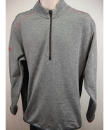 Adidas Clima Heat L Gray Black 1/2 Zip Pullover Loves Golf Classic Long ... - $19.75