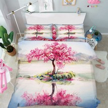3D Tree Painting Bed Pillowcases Quilt Duvet Cover Set Single Queen King... - $90.04+