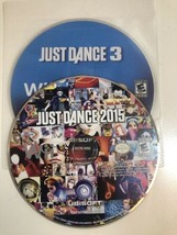 (2 game lot) Nintendo Wii Just Dance Bundle: 3 AND 2015! - $15.51