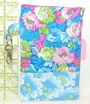 Clip-On Cell Phone Case - Large - Blue, Green, and Pink Flowers  - COPC - $4.00