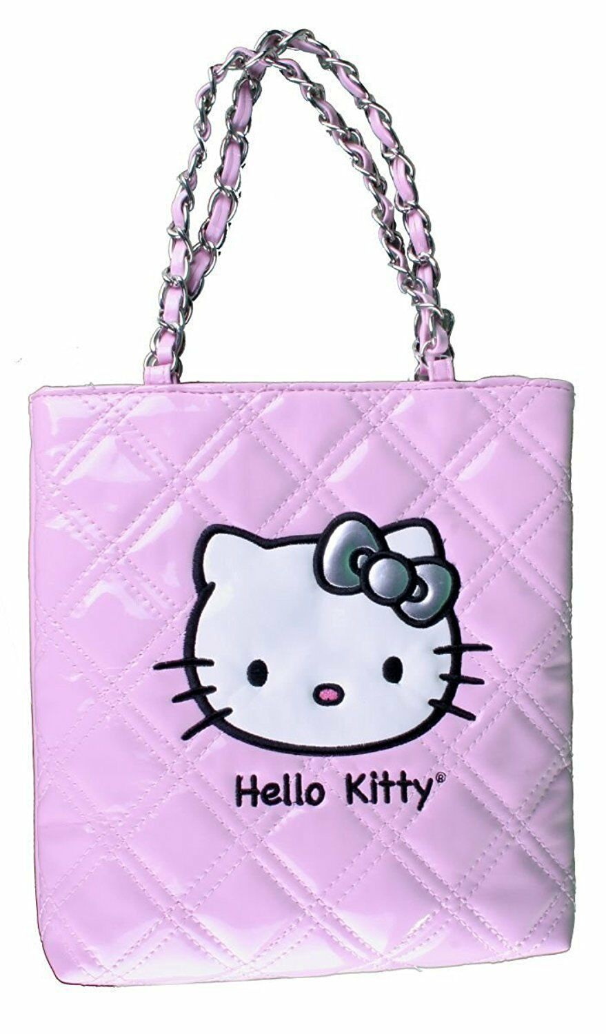 NEW Sanrio Hello Kitty Pink Evening Purse CoCo Quilted Face Patent Leather NWT