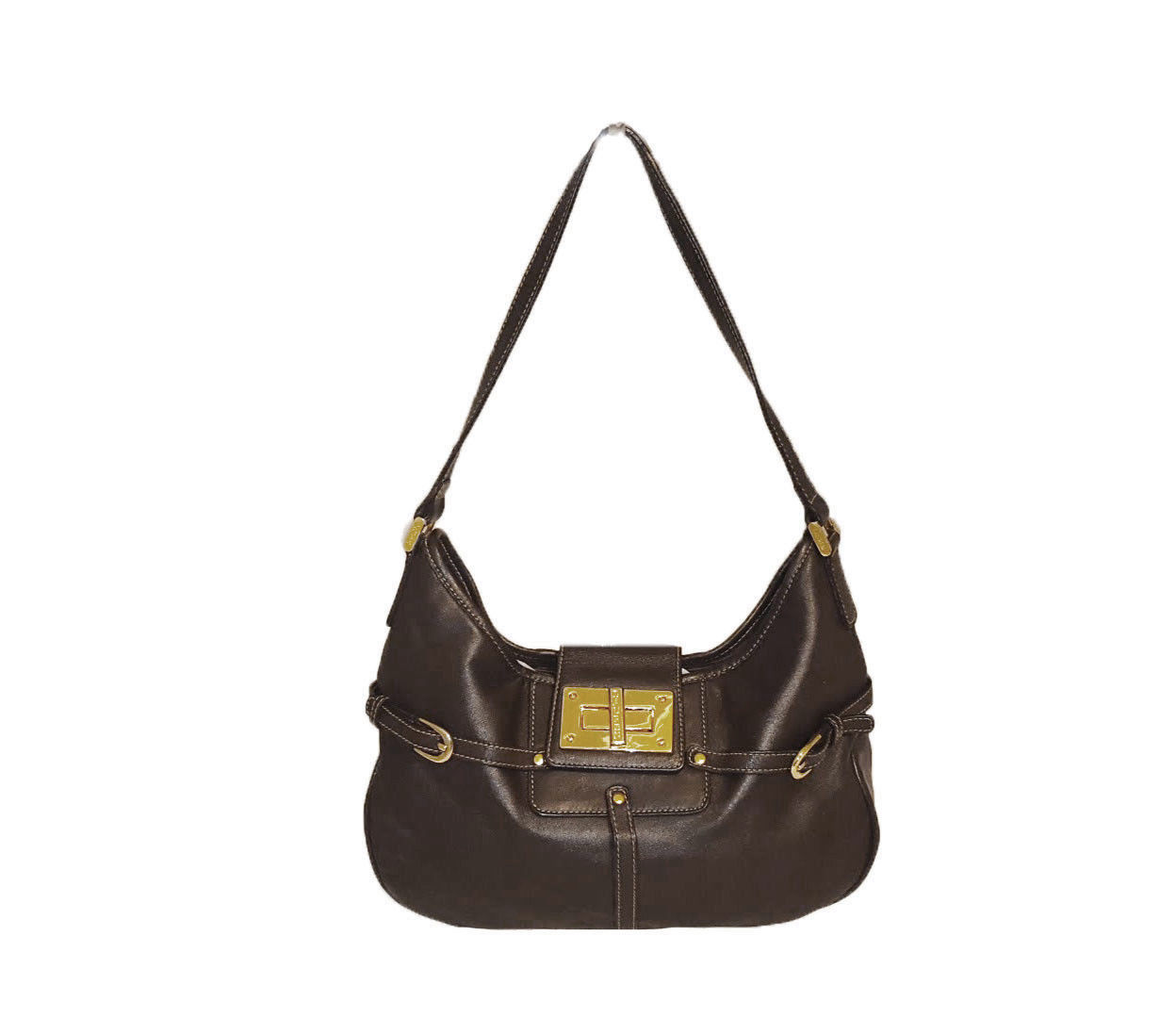 3d3b3ef718 Ralph Lauren RLL Leather Logo Embossed Turnlock Hobo Shoulder Bag - EUC  FREESHIP -  34.99