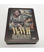 WWII Battlefront  5 Disc DVD Set  World War II Color  Collector Tin   - $13.58