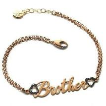 Armband Silber 925, Pink, Brother, Hearts Glanz, Erhältlich Jedes Wort - $127.33