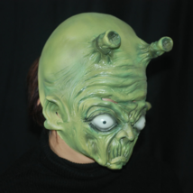 Halloween Party Mask Green Alien Witch Mask Costume Adult Masquerade - $22.00