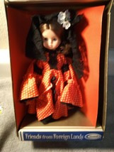 Friends Of Foreign Lands DOLL--MISS SPAIN---UNEEDA--FREE SHIP--NEW - $15.47