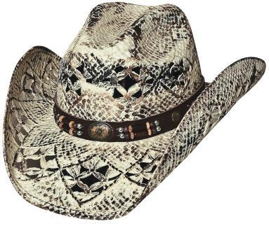 Primary image for Bullhide Girl Next Door Toyo Straw Cowgirl Hat Barrel Beads Concho Painted Brown