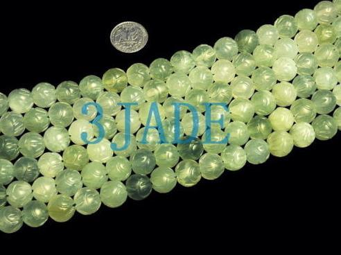 "59"" Hand Carved Tibetan 108 Jade Prayer Beads Mala   image 2"