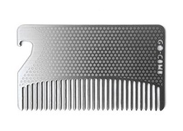 Go-Comb - Wallet Comb + Bottle Opener - Sleek, Durable Stainless Steel H... - $15.45