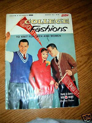Coats & Clarks College Fashions To Knit For Men & Women