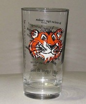 Esso Tiger Drinking Glass Tumbler Foreign Languages Put a Tiger in Your ... - $9.89