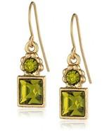 1928 Jewelry Green Square Drop Earrings - $45.46