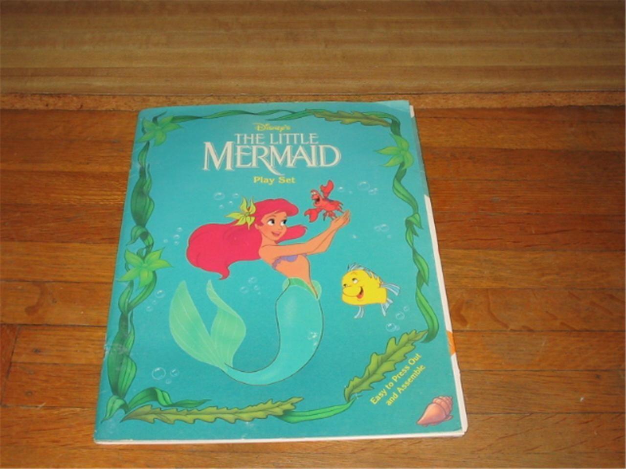 Little Mermaid Disney 1991-92 Paper Dolls; Authentic Original Playset