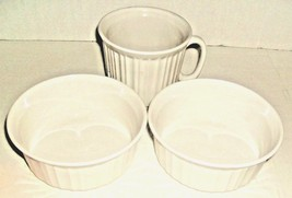 2 White Bowls 1 Mug Replacement Pieces - $9.00