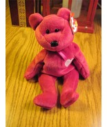Valentina TY Beanie Baby Ruby Red Bear no number in tush tag-hologram tags - $5.00