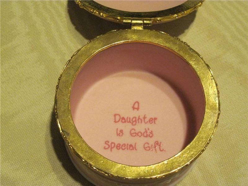 """Pink Jasperware Wedgwood Vintage 1987 P.M. Enesco """"Daughter God's Special Gift"""""""