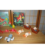 Little Mermaid Vintage 1991-92 TOYS 18 pcs & 3 Little Golden Books Disney  - $23.00