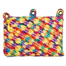 """LARGE 9"""" Zipit Rainbow Art Supplies 3 Ring Zippered Binder Pouch Pencil Case NEW"""