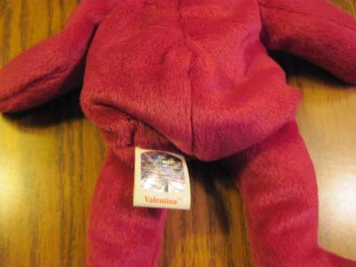 Valentina TY Beanie Baby Ruby Red Bear no number in tush tag-hologram tags image 3