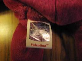 Valentina TY Beanie Baby Ruby Red Bear no number in tush tag-hologram tags image 4