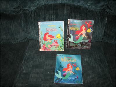 Little Mermaid Vintage 1991-92 TOYS 18 pcs & 3 Little Golden Books Disney  image 4