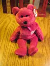 Valentina TY Beanie Baby Ruby Red Bear no number in tush tag-hologram tags image 5