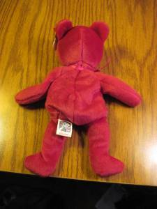 Valentina TY Beanie Baby Ruby Red Bear no number in tush tag-hologram tags image 6