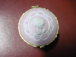 "Pink Jasperware Wedgwood Vintage 1987 P.M. Enesco ""Daughter God's Special Gift"" image 6"