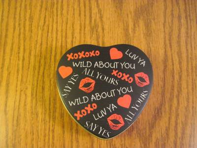 Metal Heart Tin Wild About You image 2