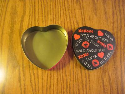 Metal Heart Tin Wild About You image 3