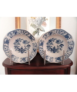 "Bohemia Ceramic Works Vintage Porcelain Dark Blue Onion 9"" Large Rim Sou... - $180.00"