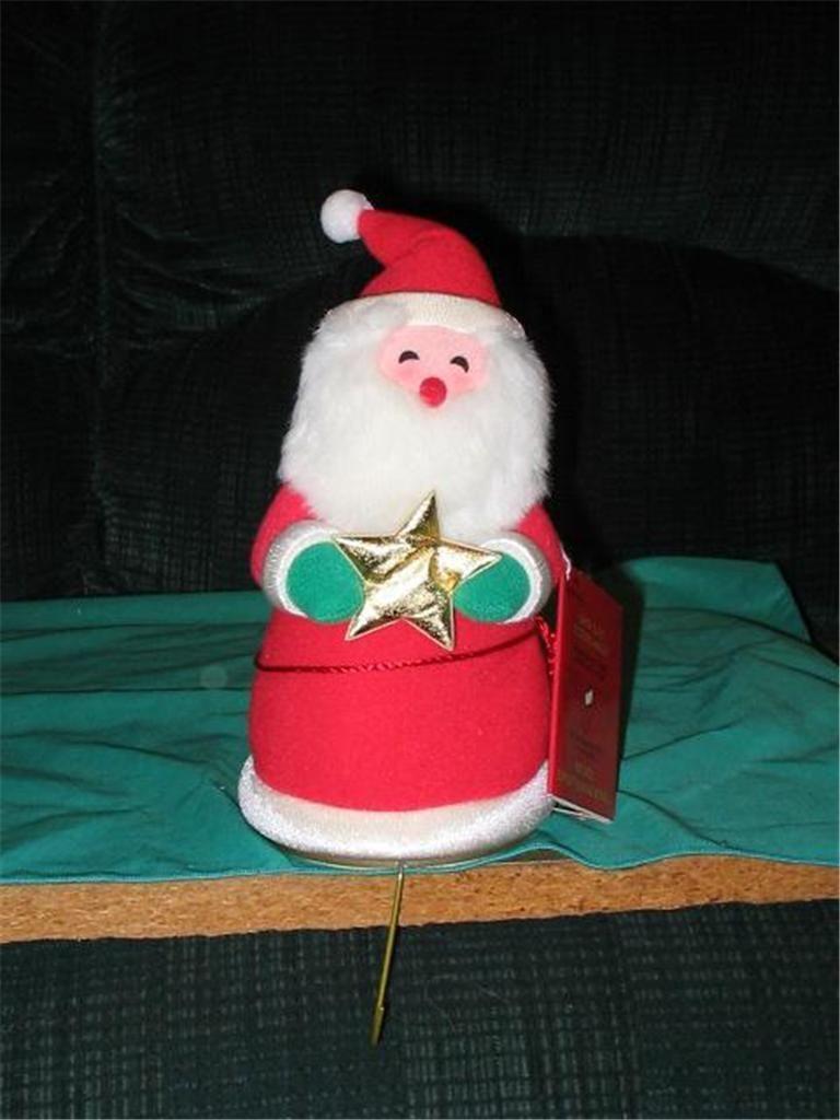 Hallmark 1997-98 Stocking Holder Santa Fabric with Soft Foam Base Christmas  S1