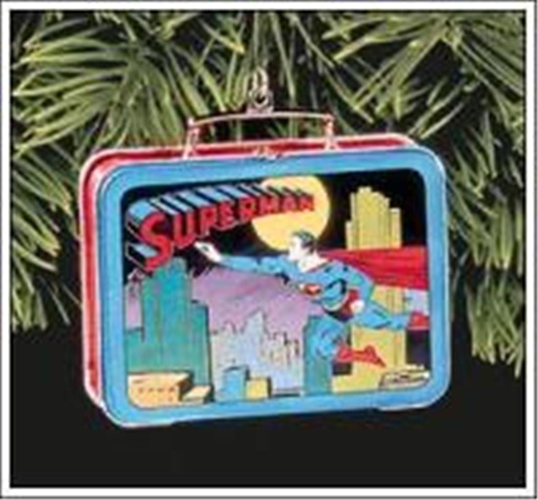 Superman Ornament Lunch Tin Hallmark Keepsake Mint Christmas Super Hero  1998