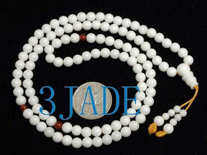 "25"" Natural Deep Sea Shell Mediation Prayer Beads Mala"