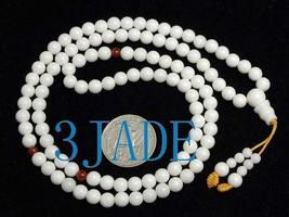 "25"" Natural Deep Sea Shell Mediation Prayer Beads Mala image 1"