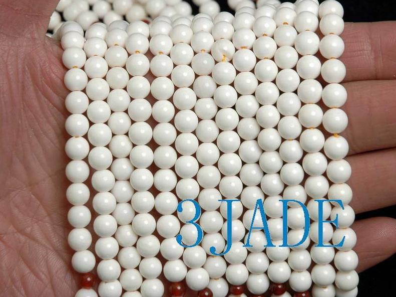"25"" Natural Deep Sea Shell Mediation Prayer Beads Mala image 3"