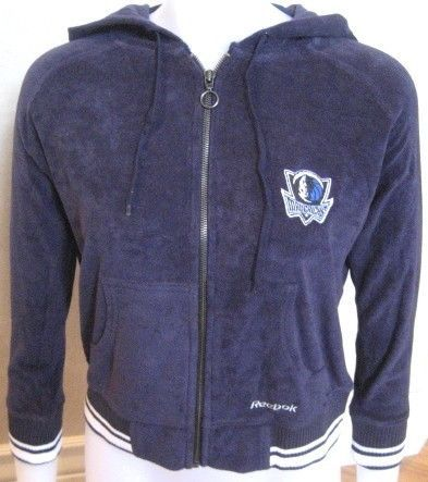 Primary image for REEBOK DALLAS MAVERICKS MAVS HOODED SWEATSHIRT WOMENS S