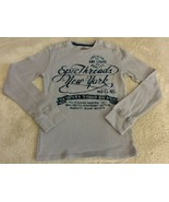 Epic Threads Boys Gray Blue Velvet New York Vintage Long Sleeve Shirt 6 - $9.28