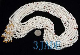 "25"" Natural Deep Sea Shell Mediation Prayer Beads Mala image 2"