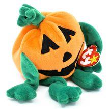 1998 TY Beanie Baby Original Pumkin Pumpkin Halloween Jack-O-Lantern Plush Toy image 4