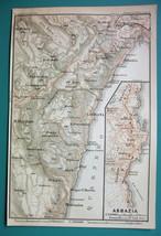 1905 MAP Baedeker - ITALY Abbazia Environs & City Plan - $6.71