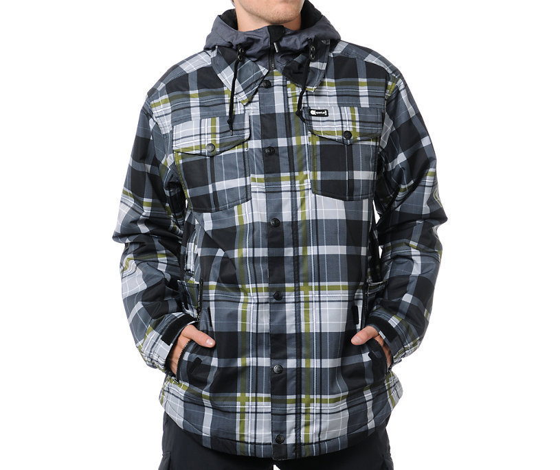 Primary image for Aperture Elevation Ski Snowboard 10k Waterproof Mens Insulated Jacket Plaid XS